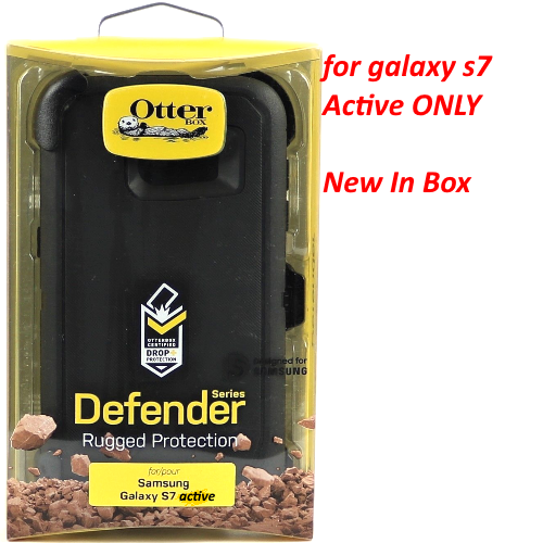Authentic Otterbox Defender w/ Clip Holster for Samsung Galaxy S7 Active BLACK