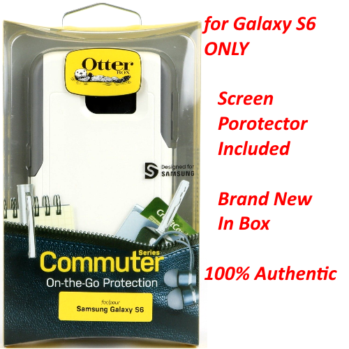 NEW Authentic OtterBox Commuter Case For Samsung Galaxy S6 With Screen Protector
