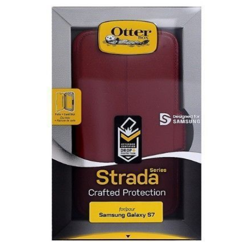 New Otterbox Strada Series Leather Case For Samsung Galaxy S7 Edge Ruby Roman