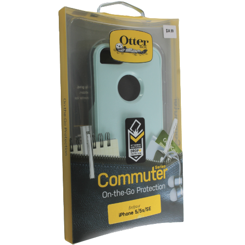 OtterBox Commuter Dual-Layer​s Hard Shell Case Cover for iPhone se/5s/5 (Teal)