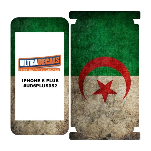 Skin Decal Sticker Wrap Vinyl For iPhone 6/6S Plus Vintage Flag of Algeria