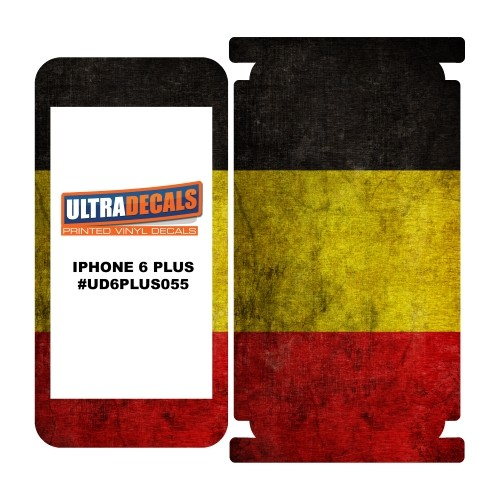 Skin Decal Sticker Wrap Vinyl For iPhone 6/6S Plus Vintage Flag of Belgium