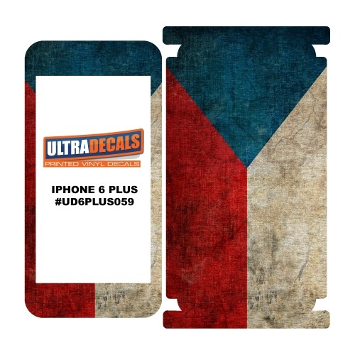 Skin Decal Sticker Wrap Vinyl For iPhone 6/6S Plus Vintage Flag of Cheque Republic
