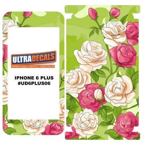 Skin Decal Sticker Wrap 3M Vinyl For Apple iPhone 6/6S Plus Bouquet Rose Pink