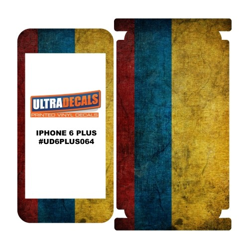 Skin Decal Sticker Wrap Vinyl For iPhone 6/6S Plus Vintage Flag of Colombia