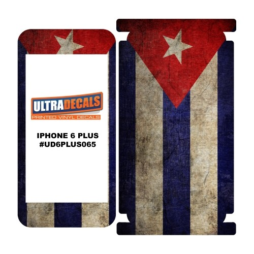 Skin Decal Sticker Wrap Vinyl For iPhone 6/6S Plus Vintage Flag of Cuba