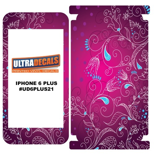 Skin Decal Sticker Wrap 3M Vinyl For Apple iPhone 6/6S Plus - Floral Background