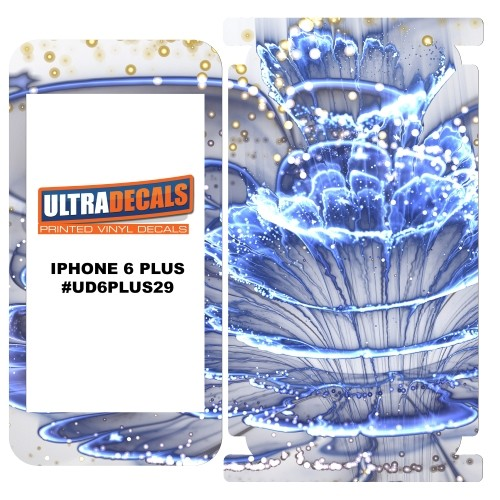 Skin Decal Sticker Wrap 3M Vinyl For Apple iPhone 6/6S Plus Frozen Blue Macro