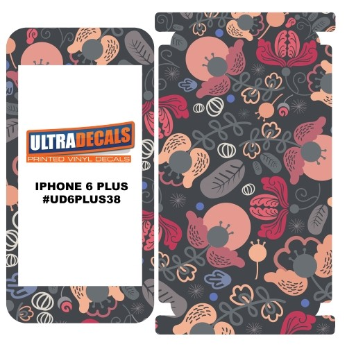 Skin Decal Sticker Wrap Vinyl For Apple iPhone 6/6S Plus Abstract Flowers Pijnk