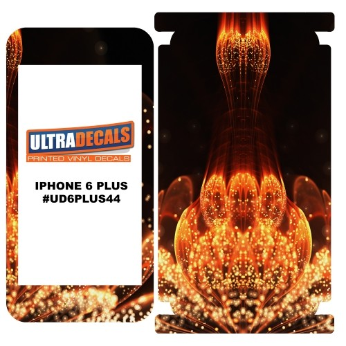 Skin Decal Sticker Wrap For iPhone 6/6S Plus Orange Fractal Flower With Pollen