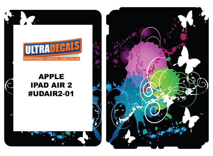 Ultradecal Apple iPad Air 2 Skin Wrap Decal Printed Sticker 3M Vinyl - Butterfly