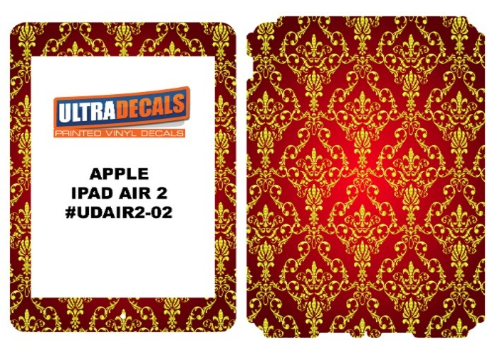 Ultradecal iPad Air 2 Skin Wrap Decal Printed Sticker 3M Vinyl - Royal Pattern