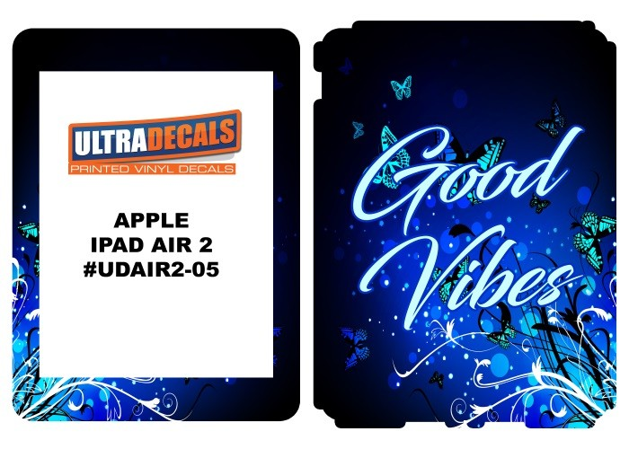 Ultradecal iPad Air 2 Skin Wrap Decal Printed Sticker 3M Vinyl - Good Vibes