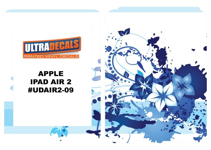 Ultradecal iPad Air 2 Skin Wrap Decal Printed Sticker 3M Vinyl - Splash Flowers