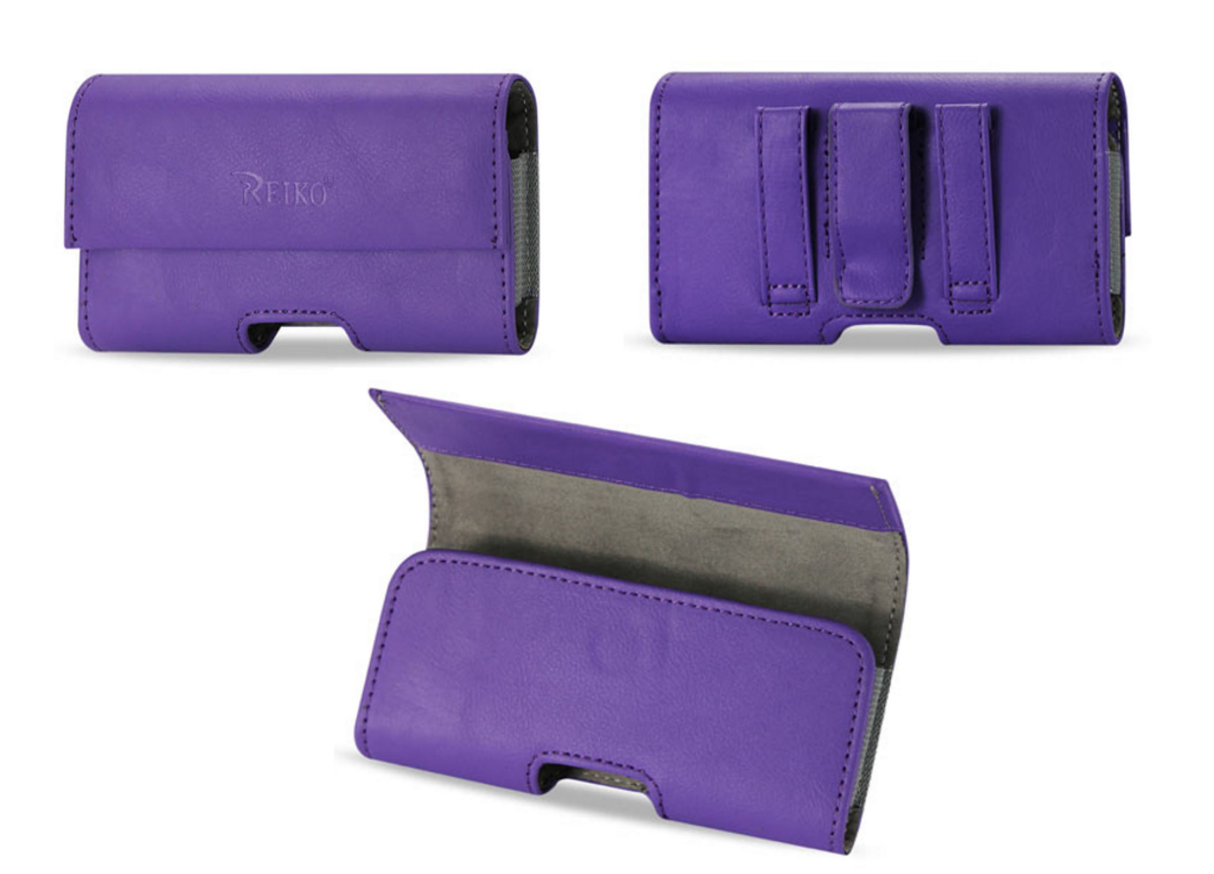 Horizontal Pouch Purple Case Cover Belt Clip Holster For SAMSUNG GALAXY S6/S5