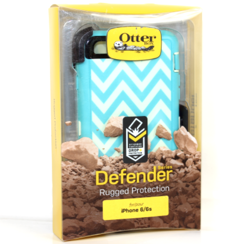 "OtterBox Defender iPhone 6 / 6S 4.7"" Case & Holster Happy Waves OEM Original New"