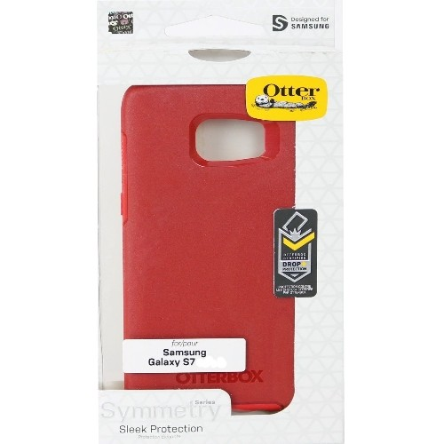 Authentic OtterBox Symmetry Series Case For Samsung Galaxy S7 Red Rosso Flame