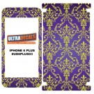Skin Decal Sticker Wrap For Apple iPhone 6/6S Plus - Paisley Royal Purple & Gold