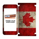Skin Decal Sticker Wrap Vinyl For iPhone 6/6S Plus Vintage Flag of Canada