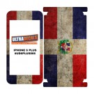 Skin Decal Sticker Wrap For iPhone 6/6S Plus Vintage Flag of Dominican Republic