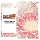 Skin Decal Sticker Wrap 3M Vinyl For iPhone 6/6S Plus Light Red Fractal Flower