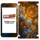 Skin Decal Sticker Wrap Vinyl For iPhone 6/6S Plus Warm Colored Fractal Texture