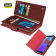 Genuine Real Leather Double Wallet Case Cover for Samsung Galaxy Note 5 Burgundy